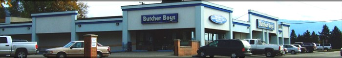Butcher Boys Food Market on Pleasant Valley Road, Vernon British Columbia Canada